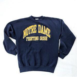 VTG Notre Dame Spellout Crewneck Sweatshirt